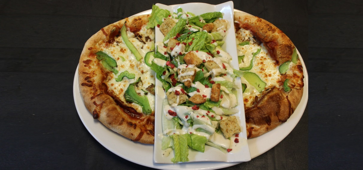 Pizza-Salade