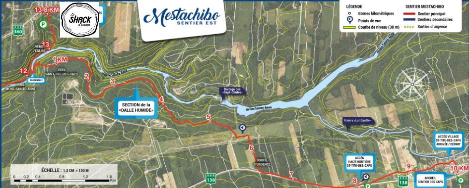 Le  SENTIER MESTASHIBO Distance : 12,5 kilomètres Durée approx : 3 à 5 heures.