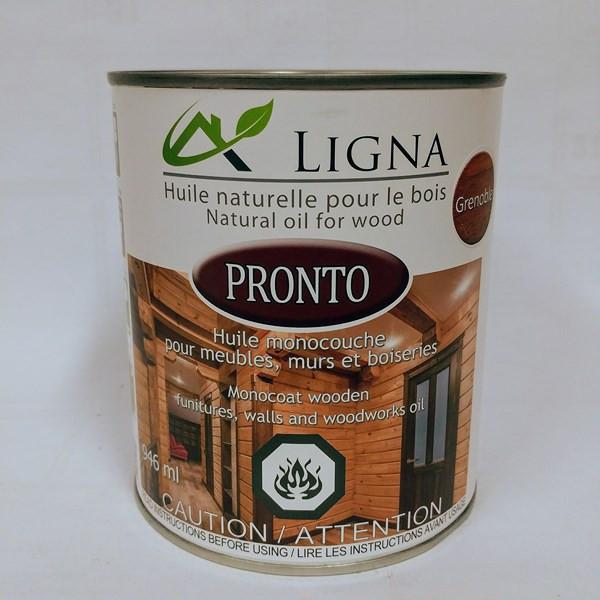 Pronto – Ligna Format : 237 ml et 946 ml. Fiche technique Pouvoir couvrant