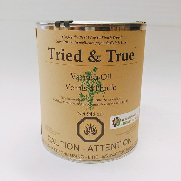 Vernis à l'huile – Tried & True Format : 946 ml.