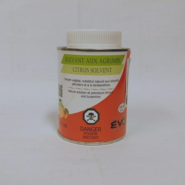 Solvant aux agrumes Solvant aux agrumes – ÉVO Format : 237 ml et 500 ml.