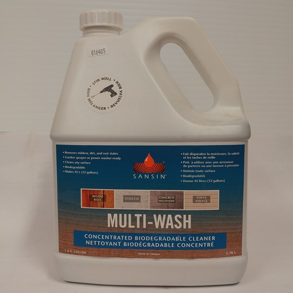 Multi-Wash – Sansin Format : 3,78 L. Fiche technique