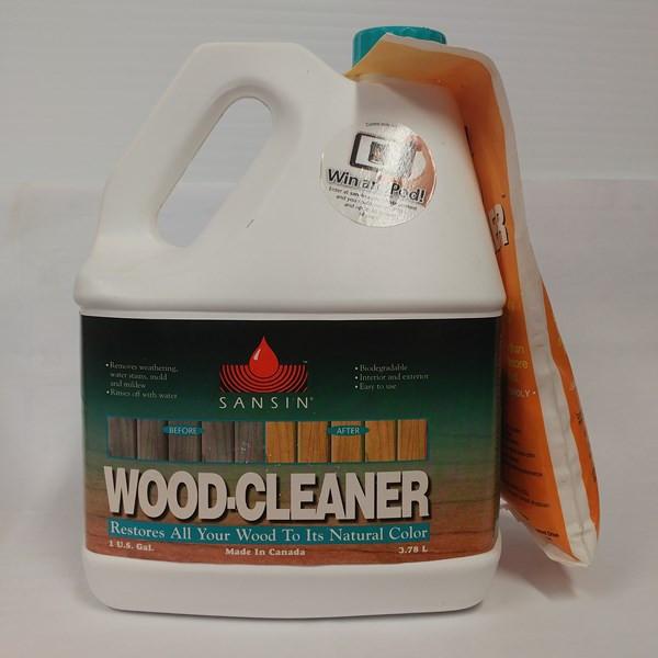 Wood-Cleaner – Sansin Format : 3,78 L. Fiche technique Fiche signalétique