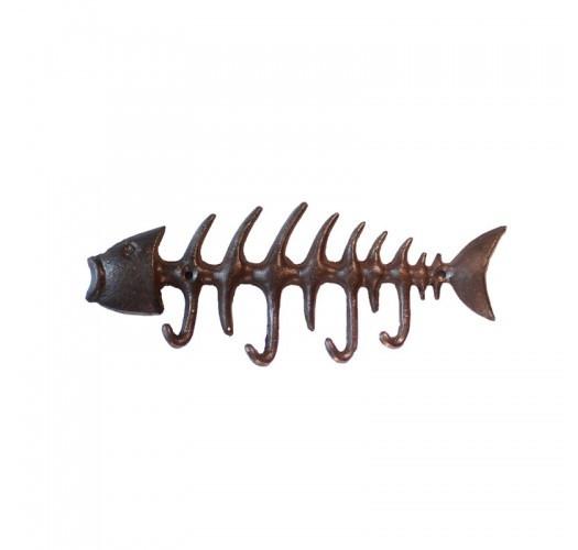 Crochet à clé poisson