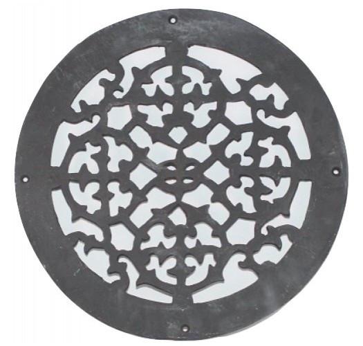 Grille de plancher ronde en fonte