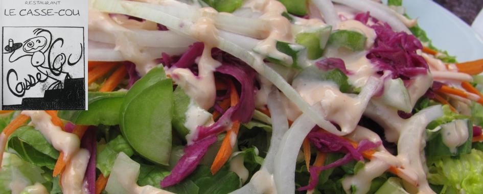 Resto Le Casse Cou salade végé