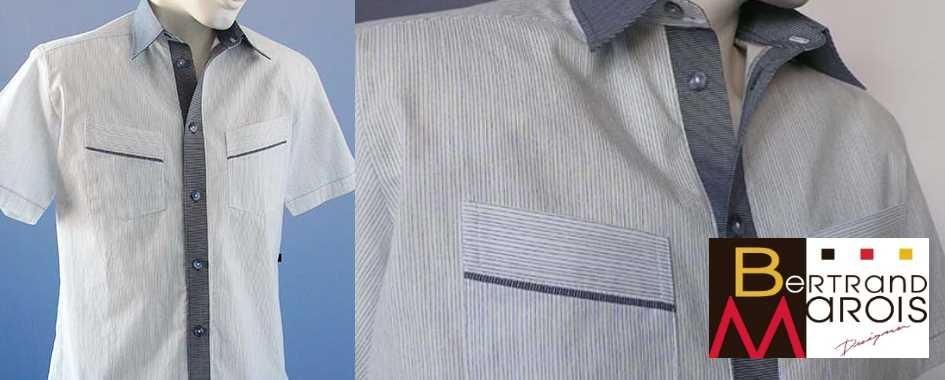 Chemise à manches courtes Bertrand Marois