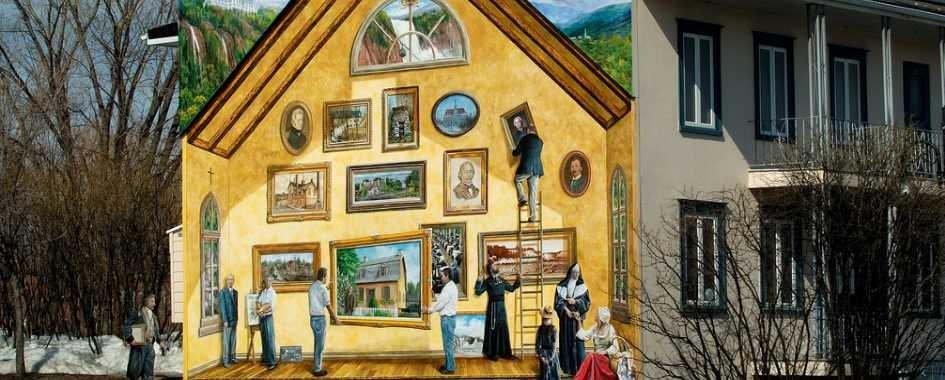 La fresque Desjardins de Beauport offre aux passants une merveilleuse page d'histoire relatant des faits marquants de l'histoire de Beauport. Cette peinture en trompe-l'œil, a été réalisée par les Maîtres muralistes canadiens et symbolise des moments forts ayant marqué Beauport depuis sa fondation en 1634. Site extérieur accessible à tous.