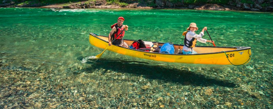 Expédition de canot-camping en Gaspésie