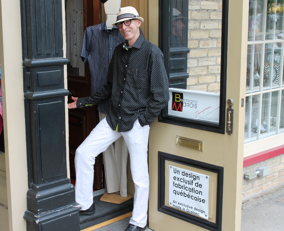 Bertrand Marois, de Québec, styliste de mode masculine