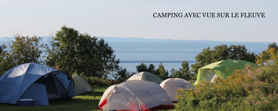 Camping rustique avec services