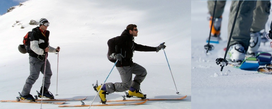 Ski de randonné en montagne