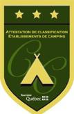 Trois étoiles Camping Québec